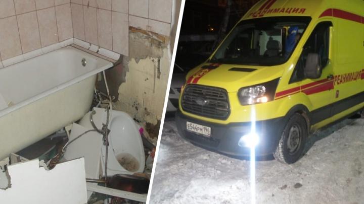 В пятиэтажке в районе Автовокзала буйный житель разнес квартиру и затопил весь подъезд кипятком