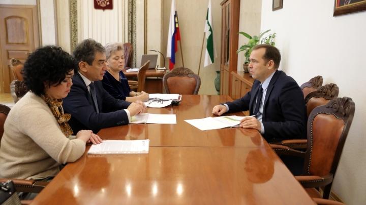 Вадим Шумков обсудил возможности сотрудничества с директором группы компаний «Мать и дитя»