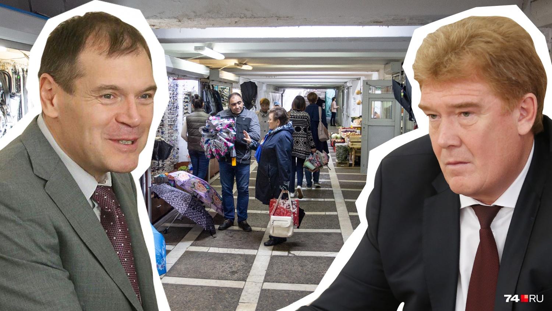 Экс-мэр Владимир Елистратов (справа) очень щедро отписал самые лакомые подземные переходы фирме, ранее принадлежавшей депутату Госдумы Андрею Барышеву