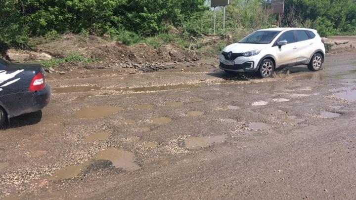 Дождевой коллектор на Ракитовском шоссе в Самаре отремонтируют за пять месяцев