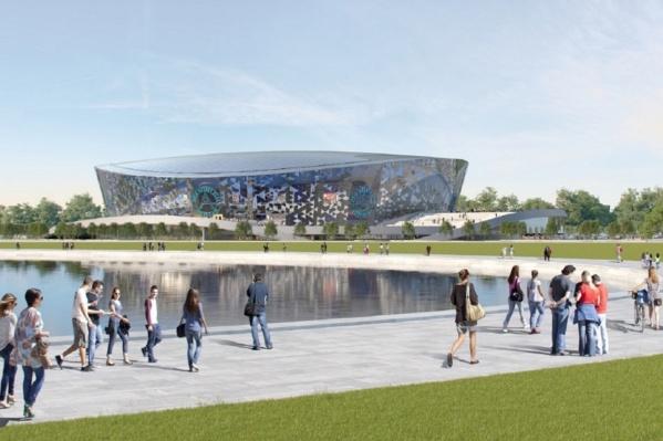 Эскиз новой арены делали московские проектировщики