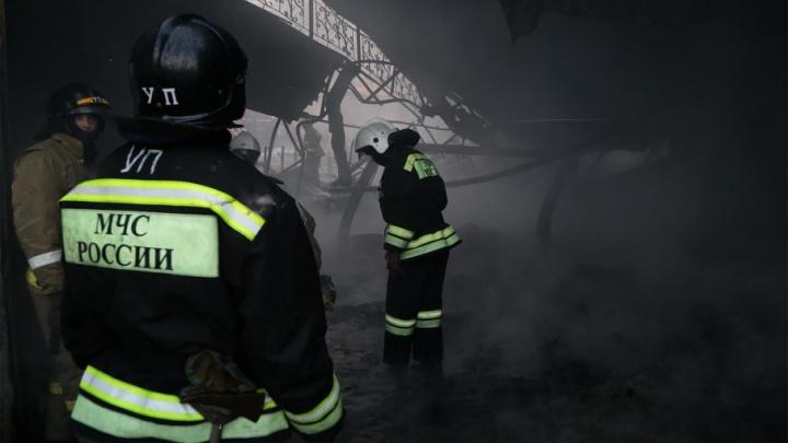 В Башкирии сгорел продуктовый магазин совхоза «Рощинский»