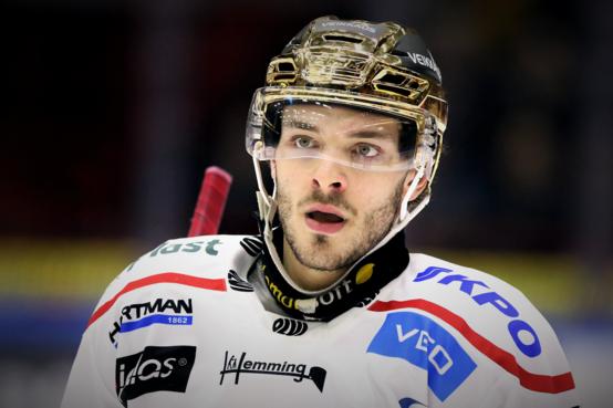 В минувшем сезонеШарль Бертран стал лучшим снайперомфинской хоккейной лиги Liigi: на его счету 32 шайбы