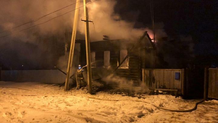 Ночной пожар в Башкирии унес жизни двоих мужчин
