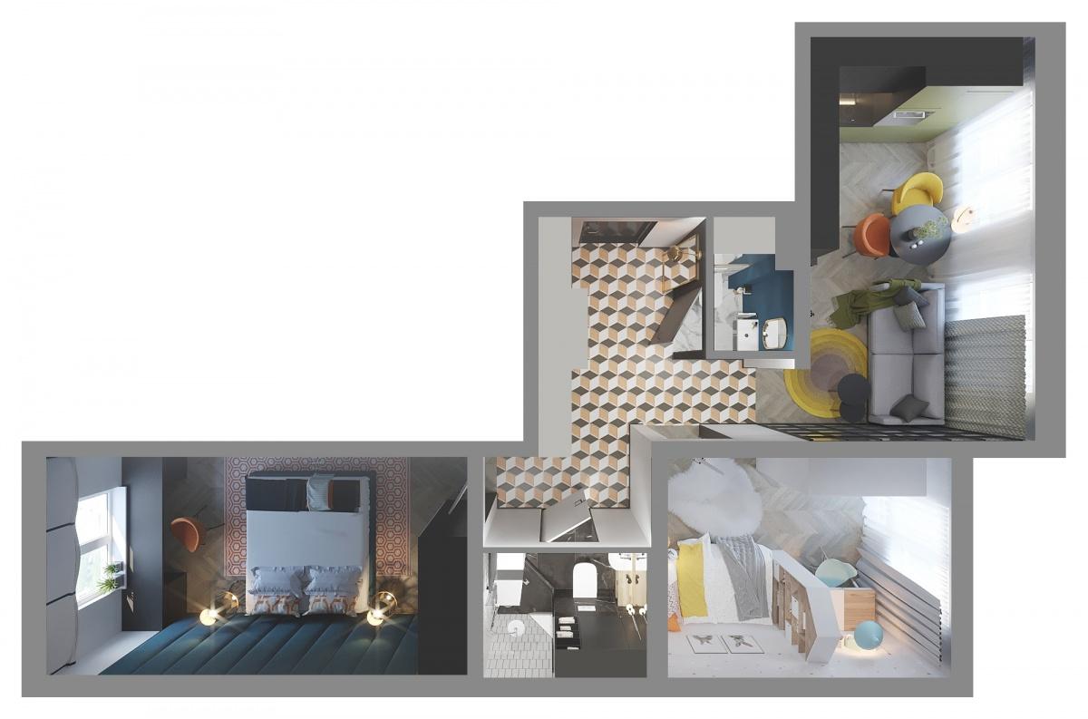Квартира в «Мичуринском» получилась самой богатой на цвета