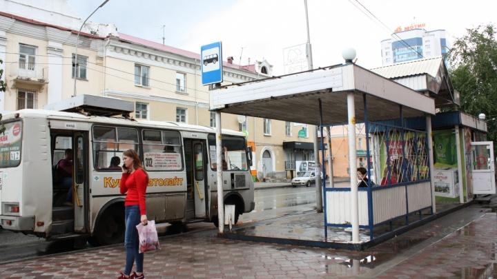 В Кургане ставят новые автобусные остановки