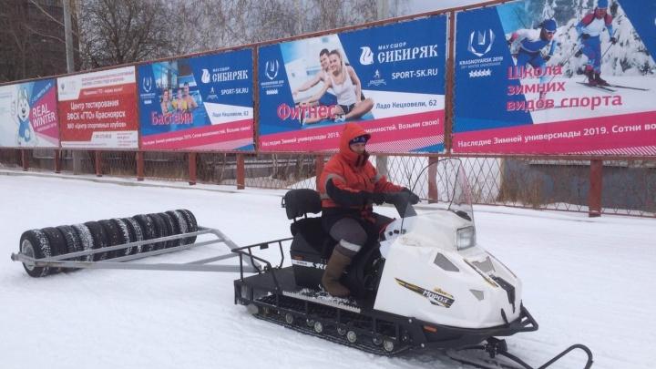 На «Динамо» начали прокладывать лыжные трассы
