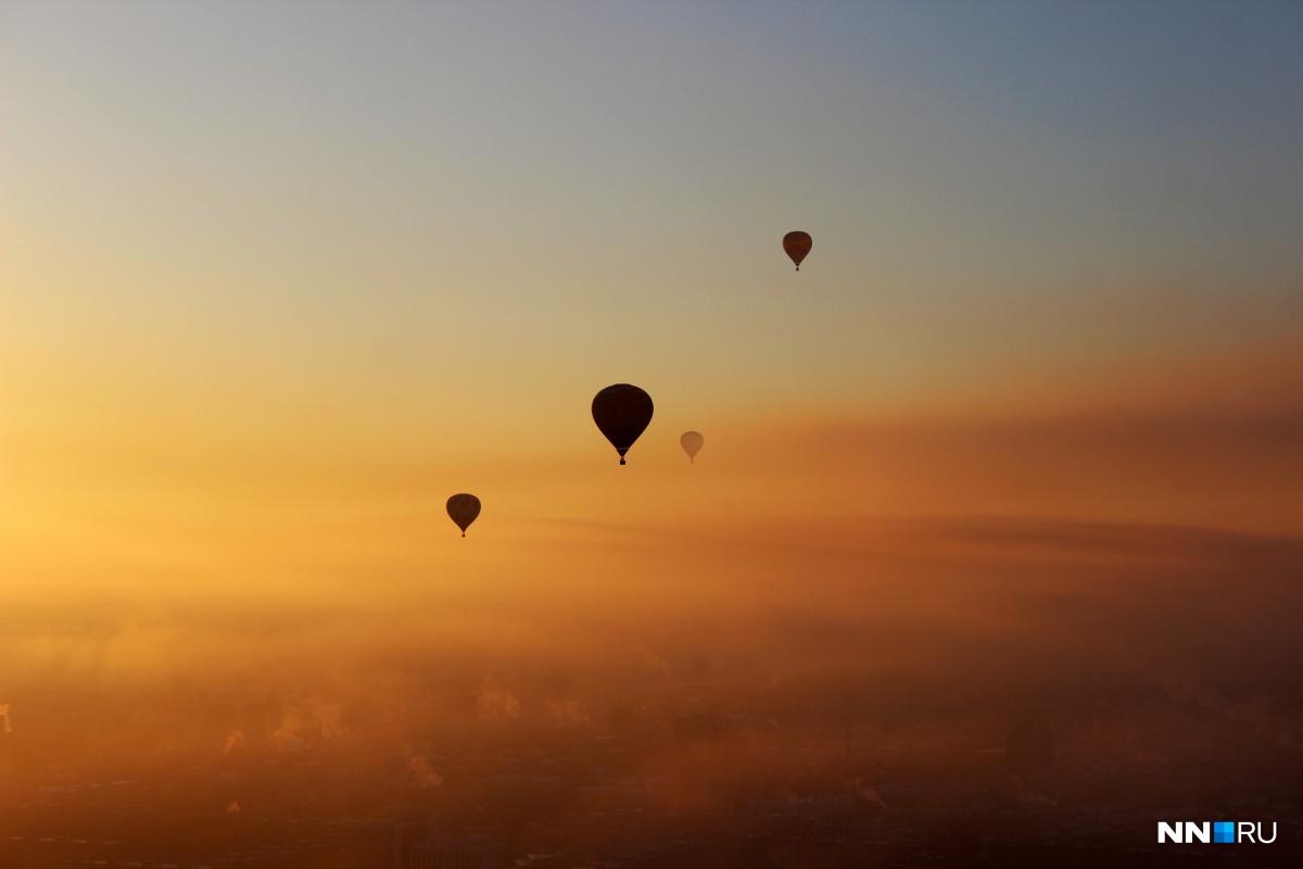 Аэростаты в небе неизменно приводят нижегородцев в восторг
