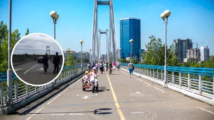 Полиция оштрафовала наглеца, выехавшего на «Лексусе» на вантовый мост
