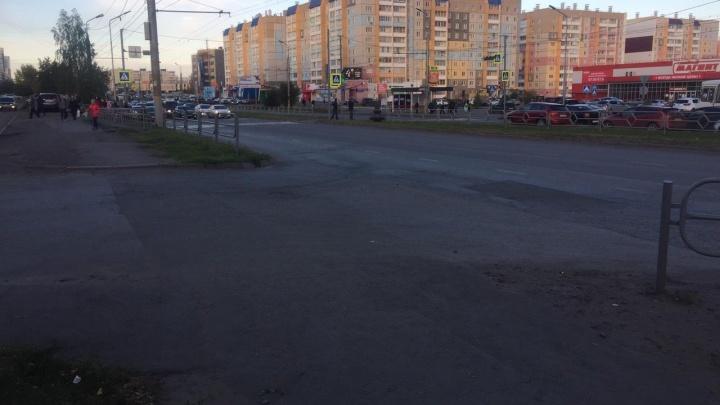 В Заозёрном сбили пешехода недалеко от магазина «Магнит семейный»