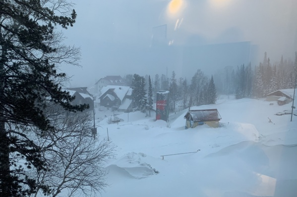 Шерегеш завалило снегом