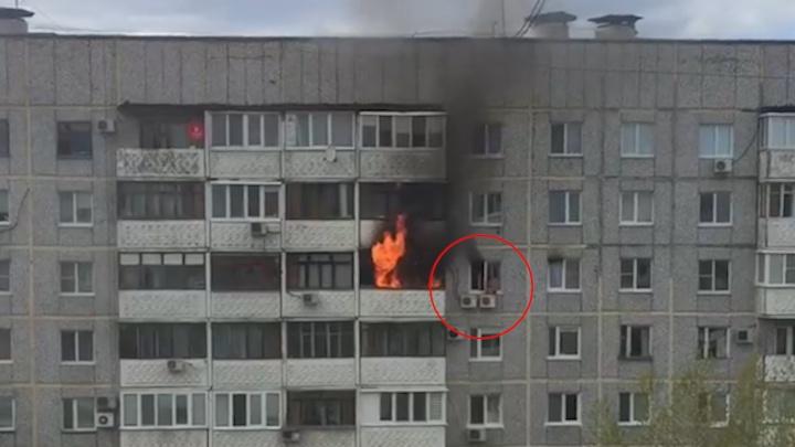«Больно! Мам, помоги!»: появилось видео крупного пожара в многоэтажке на Стара Загоре