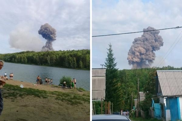 Под Ачинском произошли две серии взрывов боеприпасов