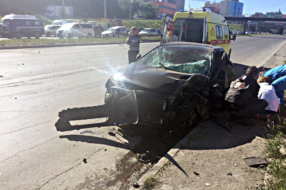 Встолкновении «Тойоты» с«Хондой» пострадали три человека— ДТП вНовосибирске
