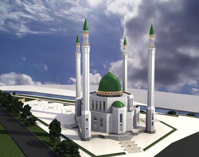 Такую соборную мечеть планировали построить неподалёку от снесенной телебашни