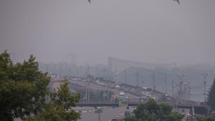 Как Красноярск затянуло пылью от лесных пожаров. Отчет экологов в одной картинке