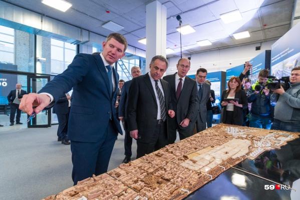 Губернатор Прикамья рассказал вице-премьеру о том, что появится в Перми к его 300-летию