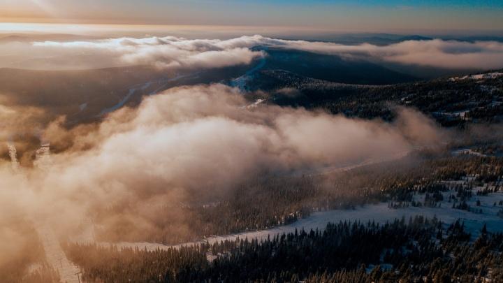 «Пришлось помёрзнуть»: новосибирец снял видео с живописными пейзажами Шерегеша