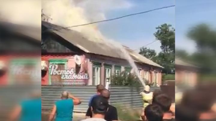 В Ростове произошел пожар в частном доме
