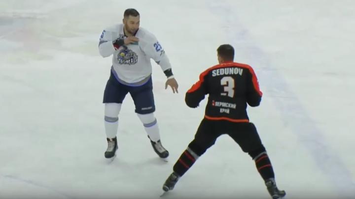 Защитник «Молот-Прикамье» подрался в матче с казахской командой. Видео