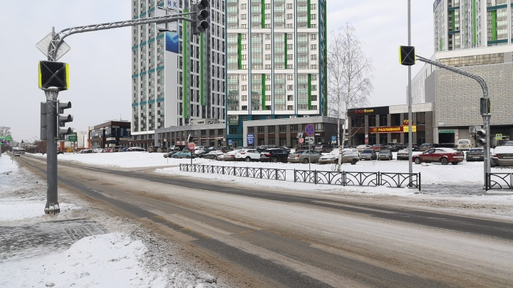 ГИБДД убрала пешеходный переход на Волгоградской до тех пор, пока там не проведут освещение