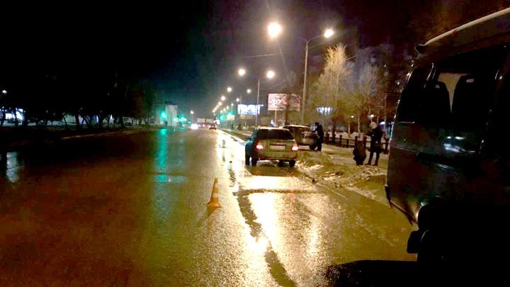 В Уфе легковушка сбила перебегавшего дорогу пешехода