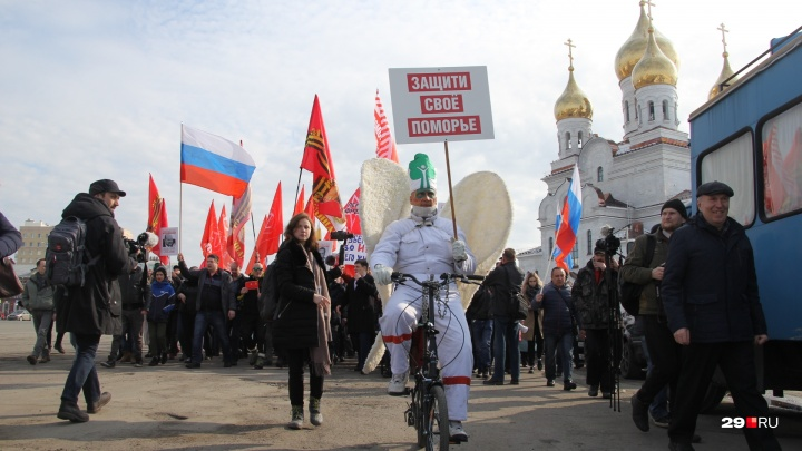 Архангельского Древарха оштрафовали за участие в антимусорном шествии. А он говорит, что сажал укроп