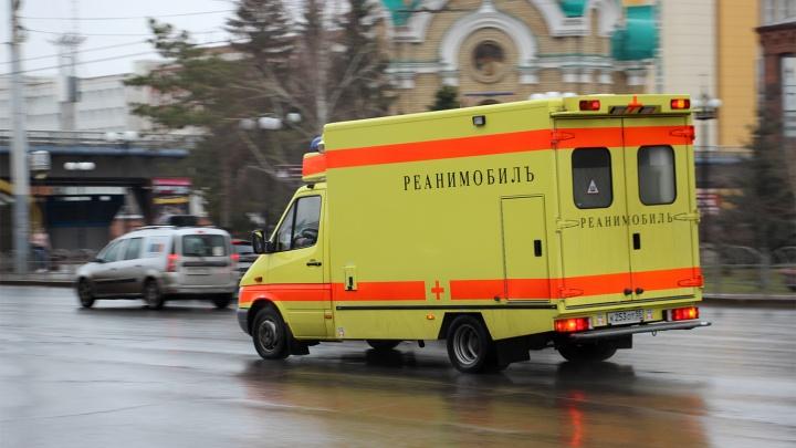 В Омске водитель сгорел заживо в автомобиле после того, как врезался в дерево
