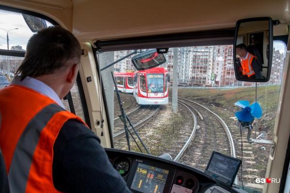 Сейчас для болельщиков ходит только трамвай S5
