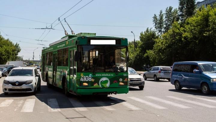 В Новосибирске появится новый троллейбусный маршрут до площади Маркса