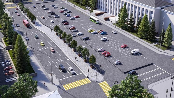 Реконструкция начинается: на Октябрьской площади сделают аллею, на Комсомольской — зону отдыха
