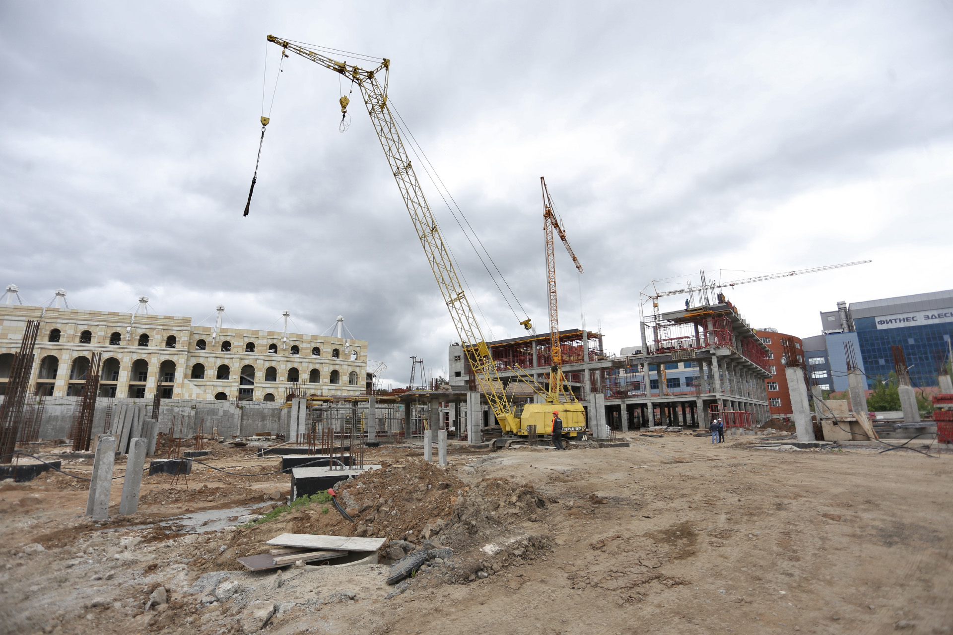 «Таганай-2020» строят в окружении гостиницы, стадиона и ледовой арены, в которой на время саммитов планируют разместить пресс-центр