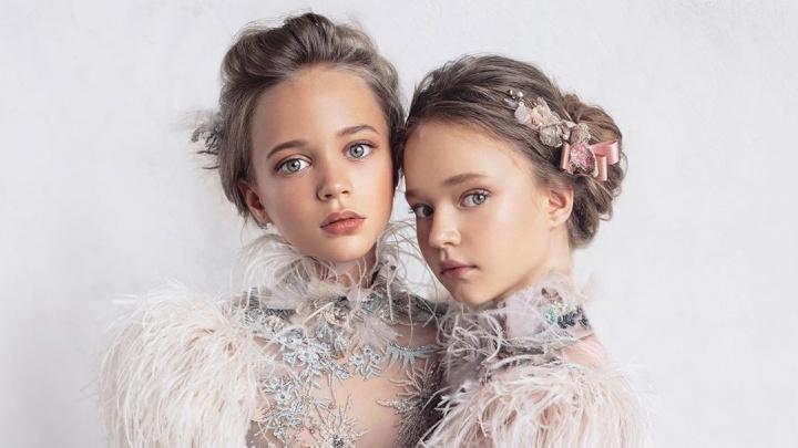 Знаменитая школьница-модель из Красноярска представила коллекцию платьев высокой моды