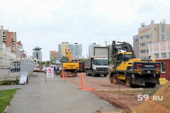 Работы на улице Островского начались в начале августа