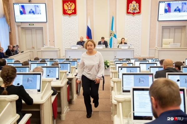 Айман Тюкина выступала 12 ноября на слушаниях в областном собрании депутатов