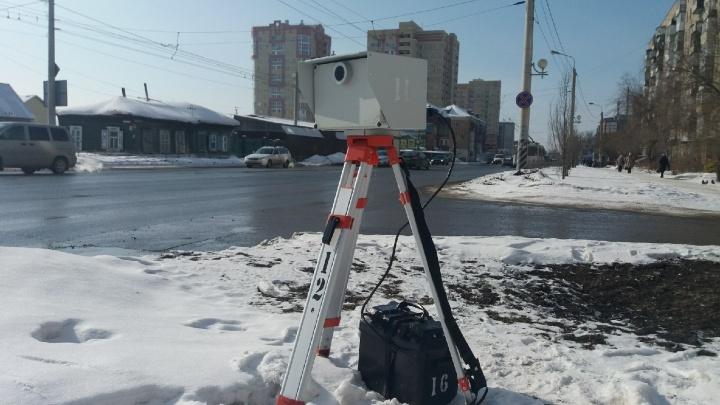 В Госавтоинспекции назвали места, где сегодня установят камеры-треноги