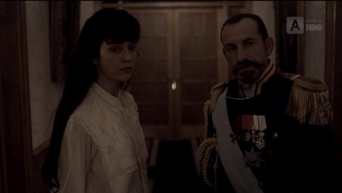 Анастасия и Николай II в доме Ипатьева