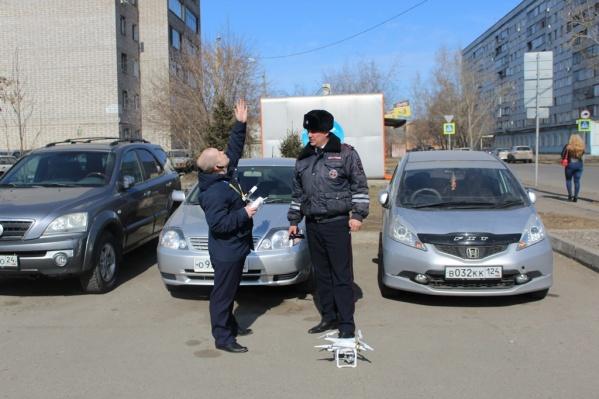 ГИБДД стали ловить нарушителей с помощью квадрокоптера