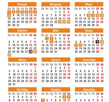 Новый год на 10 дней и три рабочие субботы: календарь выходных дней на 2018 год