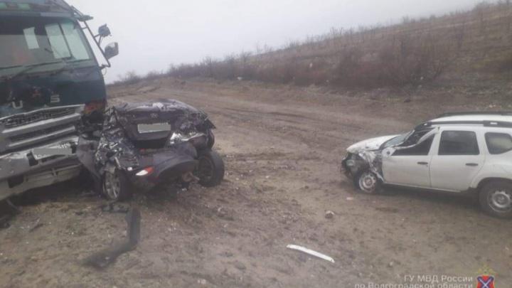«Hyundai принял удар на себя»: полиция назвала причины массового ДТП на трассе Р-228 под Волгоградом