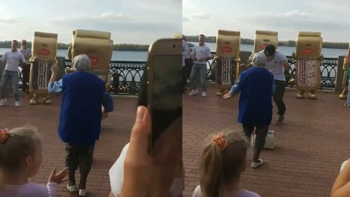 В Самаре 81-летняя бабушка устроила танцевальный баттл на набережной