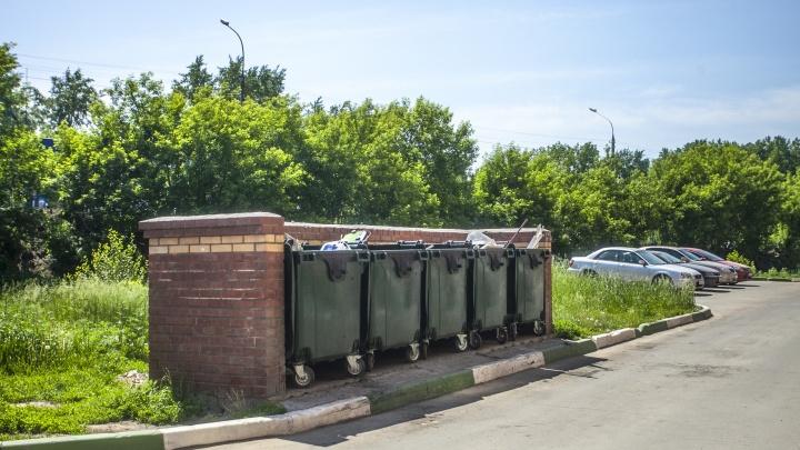 В Академгородке придумали способ убрать кучи мусора во дворах