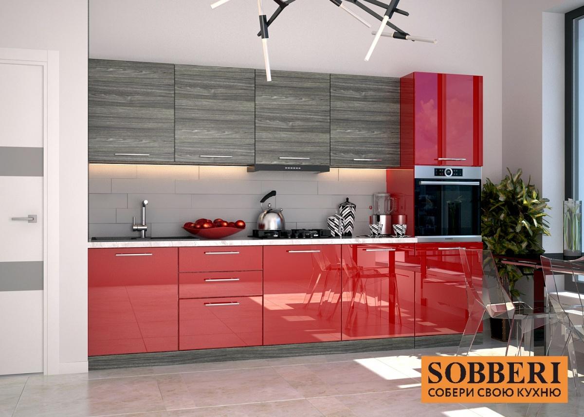 Яркие акценты и глянцевые фасады заметно обновят жилое пространство. Стоимость кухонь в Sobberi — от 30 тысяч рублей