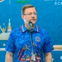 Врио губернатора переоделся на глазах у журналистов на «Самара Арене»