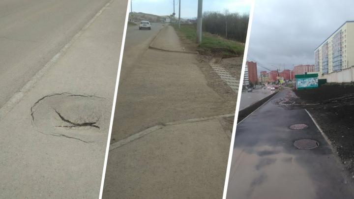 «Квест по ямам и дорогам без тротуаров»: жительница Красноярска в красках описала путь до детсада