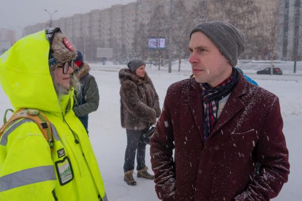 Организатор массового пикета — Максим Пискунов