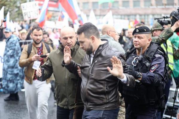Бориса Золотаревского задержали после митинга