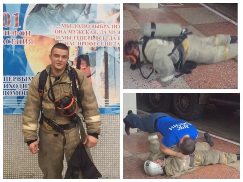 А вы сможете повторить? Нижегородский пожарный принял участие в мужественном челлендже