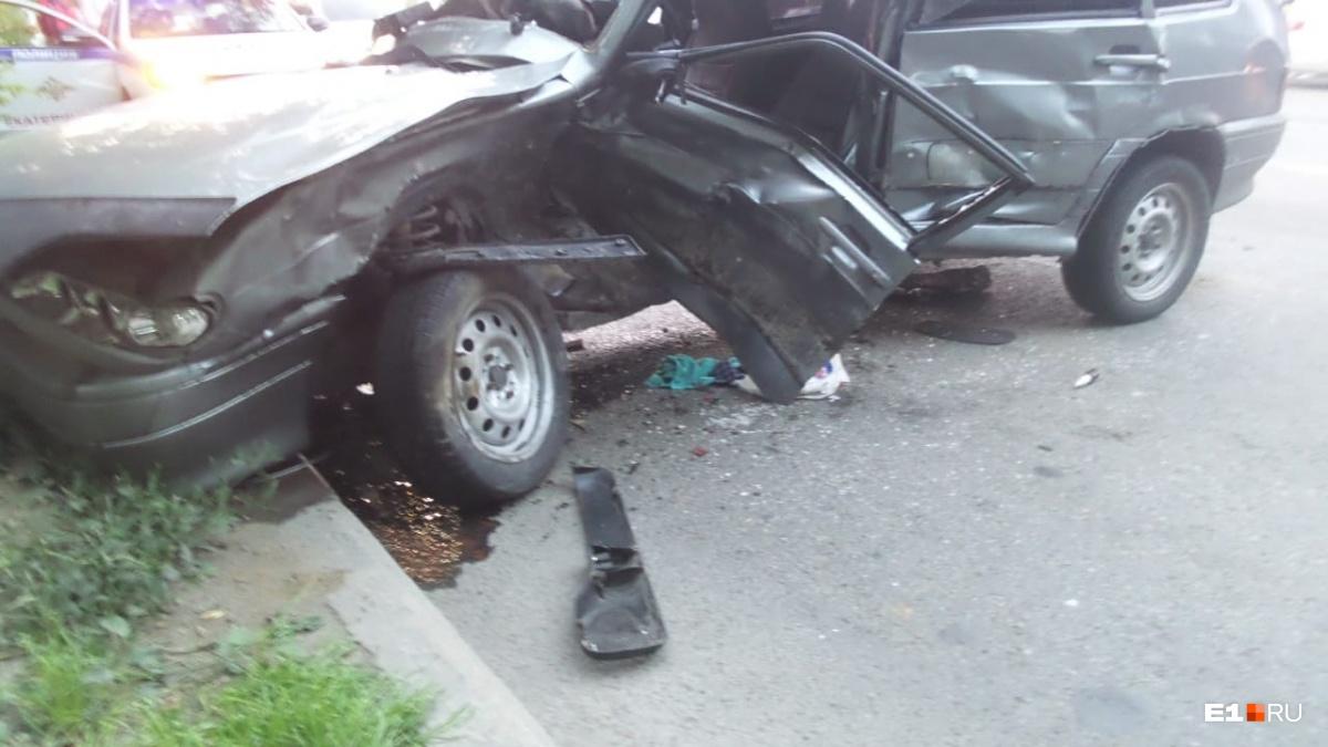 Удар пришелся на место, где был водитель