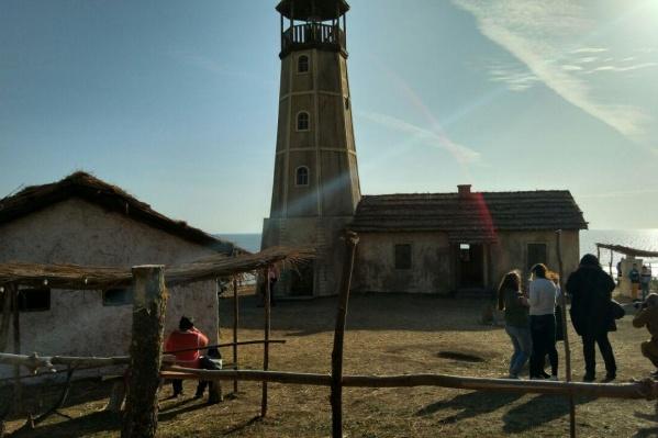 Маяк в Мержаново — декорация, которая была построена для съемок фильма «Смотритель маяка»